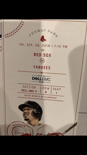Red Sox Yankees tickets for Friday Sept 28 7:10 pm for Sale in Marlborough, MA