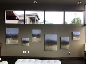 Set of Six Abstract Art Paintings for Sale in Lake Forest Park, WA