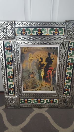 Salvatore Dali print in decorative metal frame for Sale in Seminole, FL