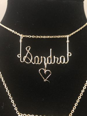 Custom Wire Nameplate Necklace for Sale in Garfield Heights, OH