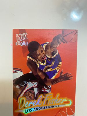 Derek Fisher one of the Lakers great one rookie card truly a Hall of Famer for Sale in Brooklyn, NY