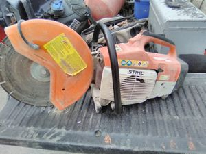 Sthil concrete saw works great plus has a newer diamond blade for Sale in Quincy, IL