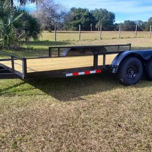 2021 NEW - 7x16 Dual Axle Trailer + Braking System for Sale in Clermont, FL