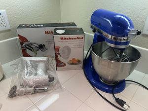 Kitchen Aid Mixer with attachments (grinder, juicer, peeler) for Sale in Fullerton, CA