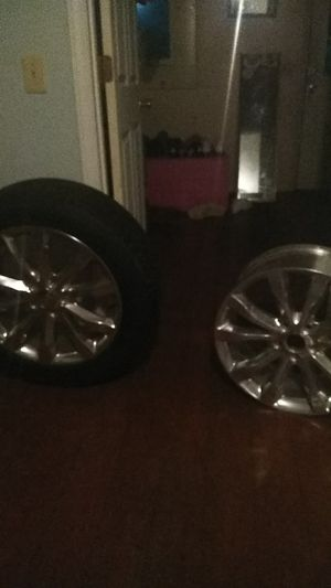 Got all 4 rims and tires r in good shape but one rim is bent and they are 19s odd size but Someone could use them for Sale in NC, US