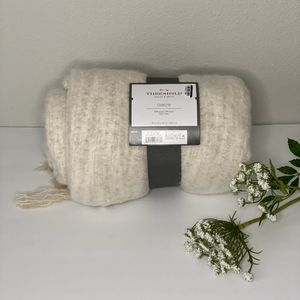Threshold Faux Mohair Throw Blanket for Sale in Pensacola, FL