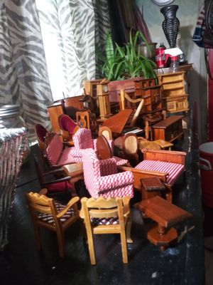 50 pc antique dollhouse furniture for Sale in Middletown, OH