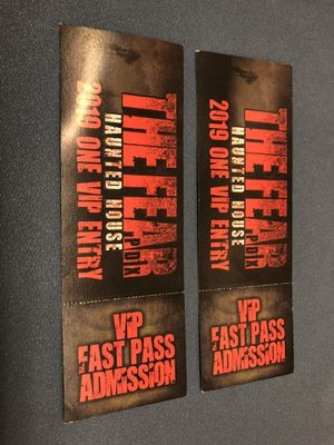 2 VIP Tickets To Fear PDX 2019 OBO for Sale in Vancouver, WA