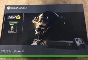 Xbox one x 1tb fallout 76 and call of duty modern warfare game bundle for Sale in Los Angeles, CA