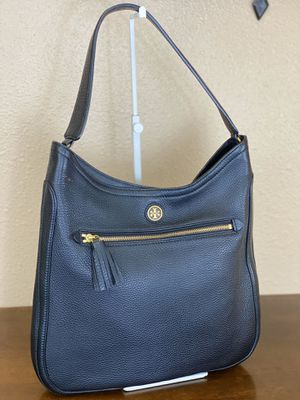 TORY BURCH BLACK PEBBLE LEATHER HOBO BAG💥NWOT💥 for Sale in Orlando, FL
