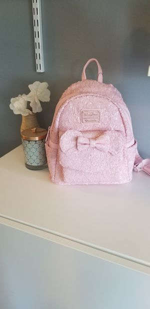 NEW Disney Millennial Pink Sequin Loungefly Backpack for Sale in Orlando, FL