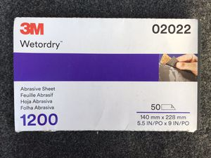 3M Wetordry 1200 grit sheets (50) #2022 for Sale in Memphis, TN