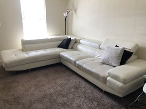 White leather couch for Sale in Manassas, VA