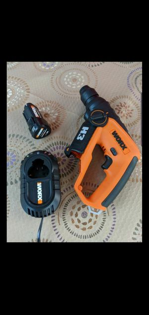 WORX 12-VOLT LITHIUM ION CORDLESS 3-IN-1 H3 ROTARY HAMMER DRILL for Sale in San Bernardino, CA