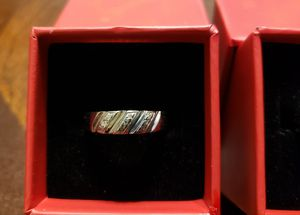 10k white gold women and men wedding rings for Sale in Springfield, MA