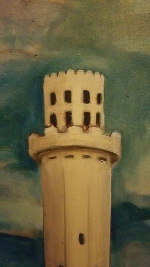 Vintage Tampa Sulphur Springs Water Tower Oil Painting for Sale in Tampa, FL
