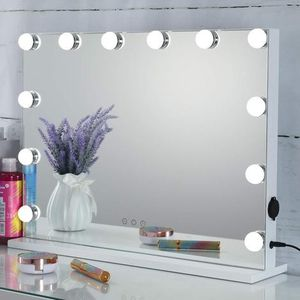 Hollywood Lighted Vanity Mirror with Dimmable Bulbs, USB Charging port, 3 Light Modes, Frameless Tabletop Makeup Mirror for Sale in Ontario, CA