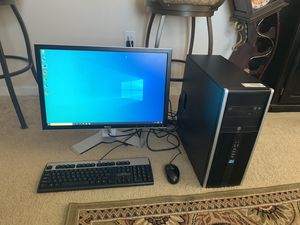 Hp i5 Desktop Computer W/Windows 10 Pro & Lifetime Office 1tb 8gb Ram 24in WiFi (Extremely Fast) for Sale in Las Vegas, NV