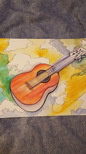 """Guitar watercolor 15""""x11"""" one of a kind for Sale in Virginia Beach, VA"""