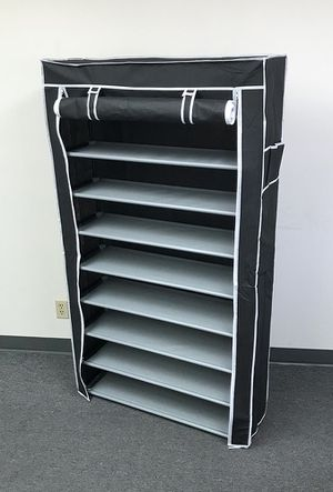 """New $25 each 10-Tiers 45 Shoe Rack Closet with Fabric Cover Storage Organizer Cabinet 36x12x62"""" for Sale in Whittier, CA"""
