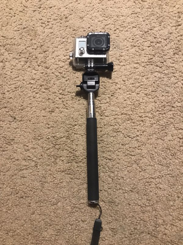 GoPro Hero 3 W/ Selfie Stick and Case