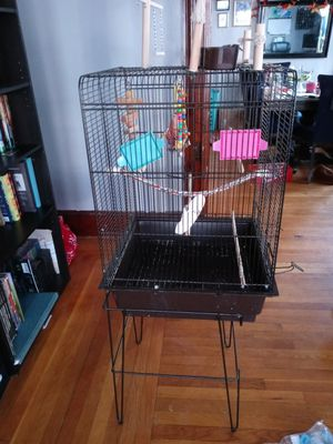 Bird cage with extra toys for Sale in North Providence, RI