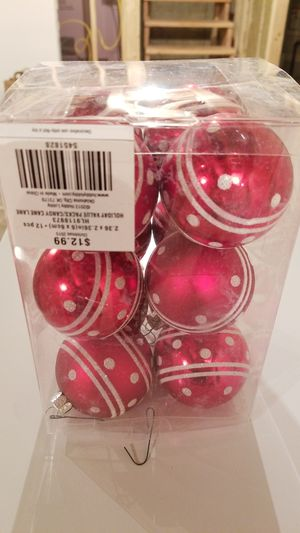 12 red and white ornaments for Sale in Wheaton, IL