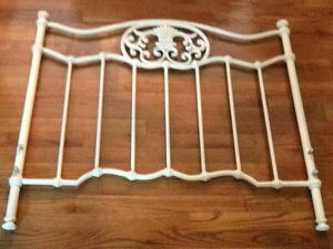 Cream colored twin bed frame for Sale in Manassas, VA