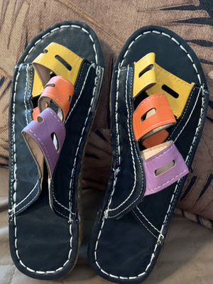 ** L👀K** - BRAND NEW Size 6/ 61/2 Well Made COLORFUL LEATHER SANDALS!!! for Sale in Palmetto, FL