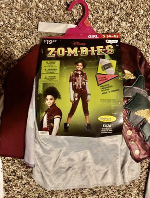 Girls S (4-6) Halloween Costume - ZOMBIES for Sale in New Braunfels, TX