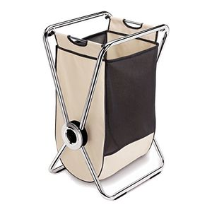 Simplehuman single x-frame laundry hamper, chrome steel for Sale in Miami, FL