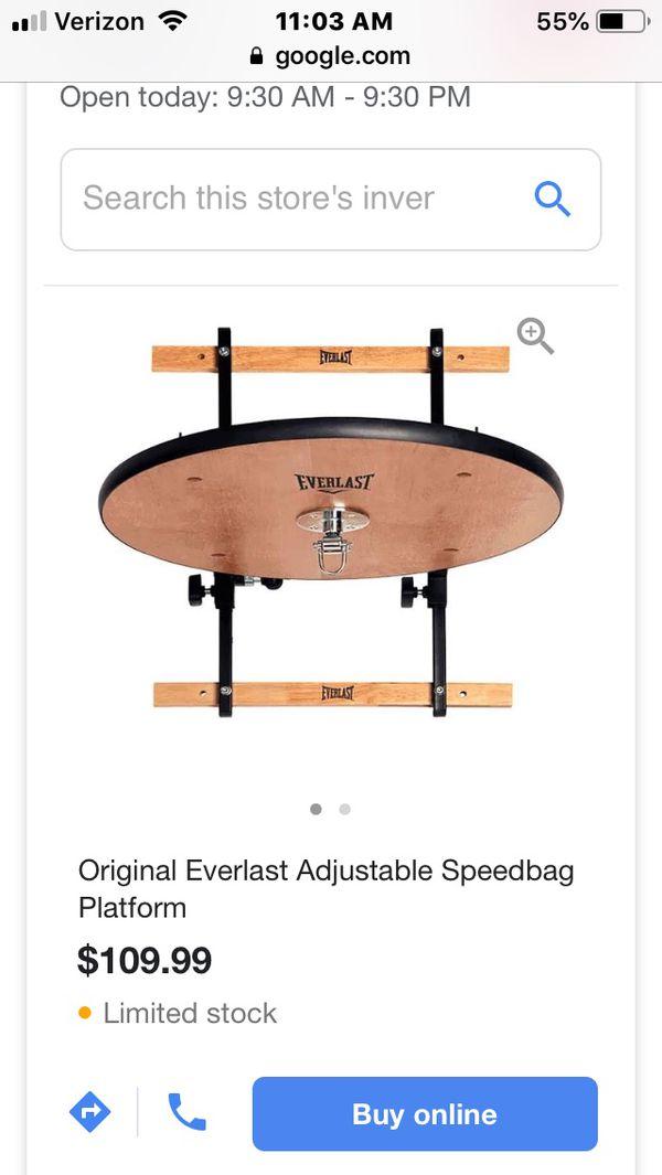 Everlasting Adjustable Speed Bag Platform WITH Speedbag included