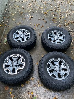 4 Jeep Rubicon JK 2015 tires and Wheels. Nitto Ridge Grappler Tires. for Sale in Washington,  DC