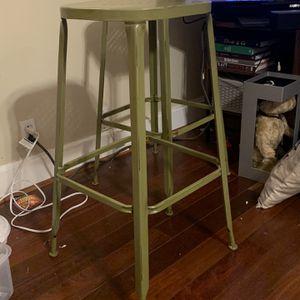 Metal barstools (3) Green And Teal (Pier 1) for Sale in Atlanta, GA