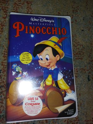Disney Pinocchio Masterpiece VHS in Plastic for Sale in Hardeeville, SC