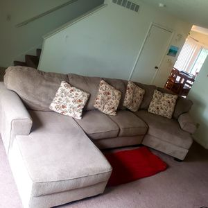 Ashley furniture Sectional (Chaise, armless loveseat,Snuggler) Sofa for Sale in Midland, MI