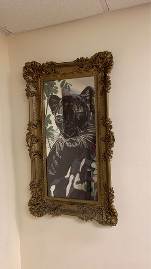 Black panther framed mirror for Sale in Southbridge, MA