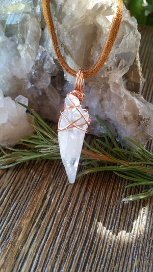 Copper wrapped crystal quartz for Sale in Fontana, CA