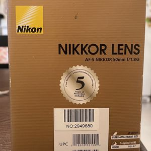 AF-S NIKKOR 50mm f/1.8G (Nikon Lens) for Sale in Tacoma, WA