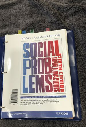 Social Problems 6th Edition for Sale in Winsted, CT