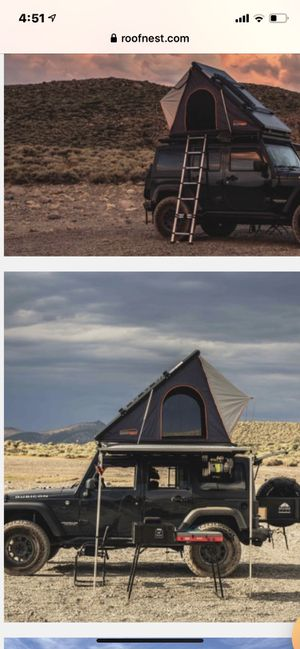 Roofnest pop up tent over lander smitty bilt camping falcon tundra pro Tacoma fox icon king Jeep gladiator f150 4 runner fj for Sale in Downey, CA