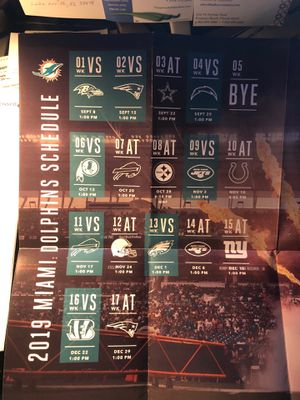 Dolphins vs Redskins cheap tickets lower level for Sale in Boca Raton, FL
