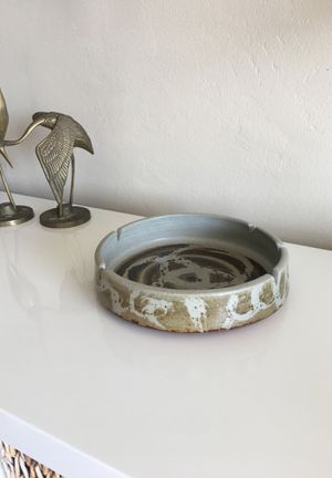Vintage Mid Century stoneware ashtray for Sale in Los Angeles, CA