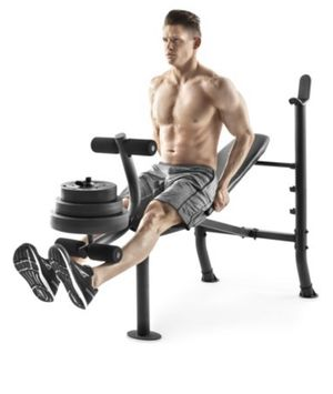 Weider XR 6.1 Adjustable Bench with 100lb Weight Set and Leg Developer for Sale in Orlando, FL