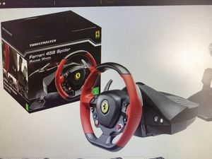 Xbox one racing wheel set up with Forza 7 game for Sale in Miami, FL
