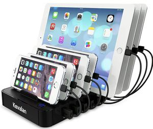 7 Port USB Charging Station Dock with 2 PD Charging Port, PD Charging Station Organizer Universal Desktop Tablet & Smartphone Multi-Device Charger Hub for Sale in Edison, NJ