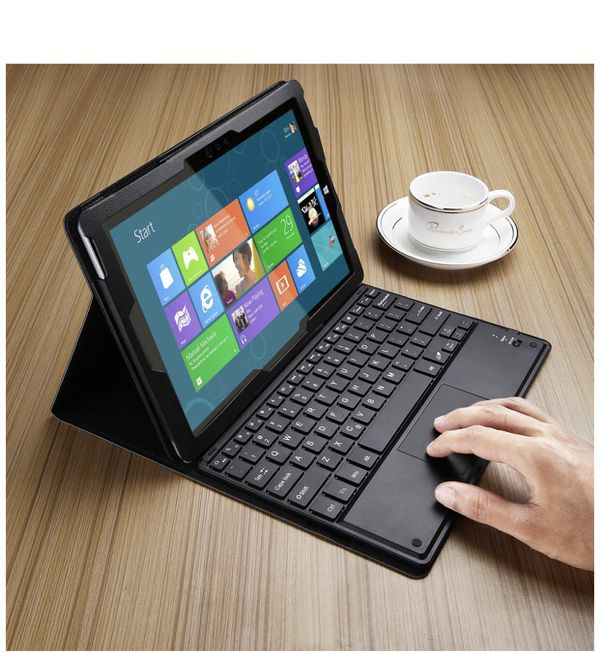 OWERADD POWERADD Microsoft Surface 3 Keyboard Case Detachable Wireless Bluetooth Keyboard with Touch Pad with Magnetic PU Leather Stand Case Cover (O