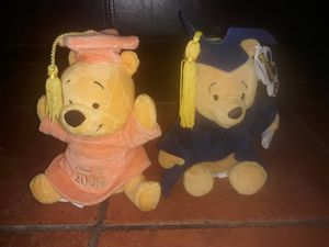 Two Disney graduation day Winnie the Pooh collectible plush toys for Sale in Lawndale, CA