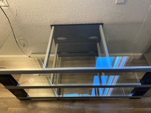 Glass tv stand for Sale in Stockton, CA