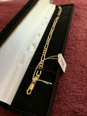 14k gold chain bracelet for Sale in Los Angeles, CA